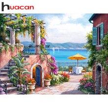 Huacan フル平方/ラウンドダイヤモンド塗装ガーデン 5D diy ダイヤモンド刺繍風景キット装飾ホーム