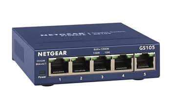 цена на Original Netgear GS105 5-Port 10/100/1000 Gigabit Ethernet ,Bandwidth 10 Gbps ,Unmanaged, Desktop Switch