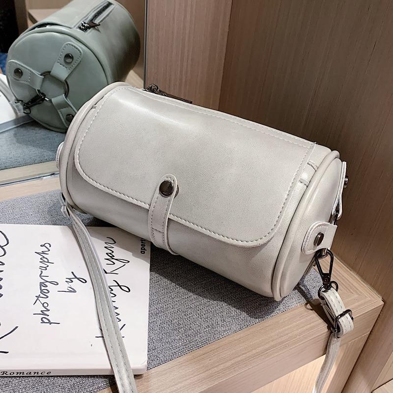 French Small Bag Women's Bag New 2020 Version Versatile Messenger Bag Texture Single Shoulder Bag Fashion Cylinder Bag