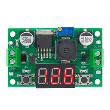 10 個にLM2596 モジュールdc 4.0 〜 40 1.3 37v調整可能なステップダウン電源モジュール + led電圧計送料無料