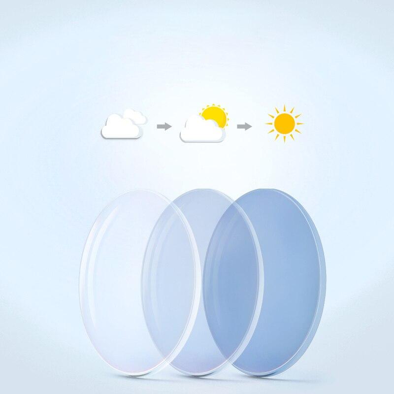 1.56 1.61 1.67 index Photochromic Glasses Lenses Resin Lens Change to grey/brown Anti Polar UV400 chameleon