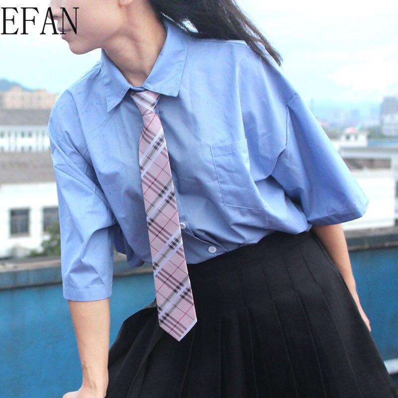 Short Korean Version Japanese Academy Style Girl's Boy's Tie Polyester Zipper Free Knotted Lazy 6cm Tie Men Arrow Tie