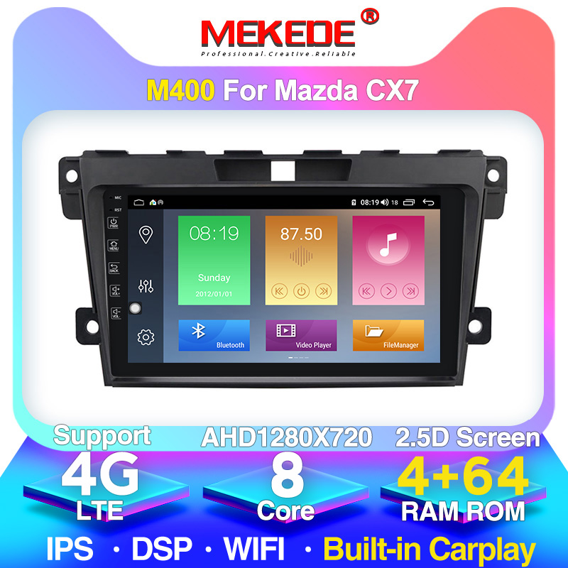 Android 2din Multimedia Player For <font><b>MAZDA</b></font> <font><b>CX</b></font>-7 cx7 <font><b>cx</b></font> 7 2007 2008 2009 2010 <font><b>2011</b></font>-2014 GPS Navigation Video Car Radio WiFi BT image