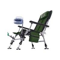Todo o terreno cadeira de pesca selvagem 2019 nova cadeira de pesca europeia dobrável multifuncional cadeira de pesca portátil assento reclinável