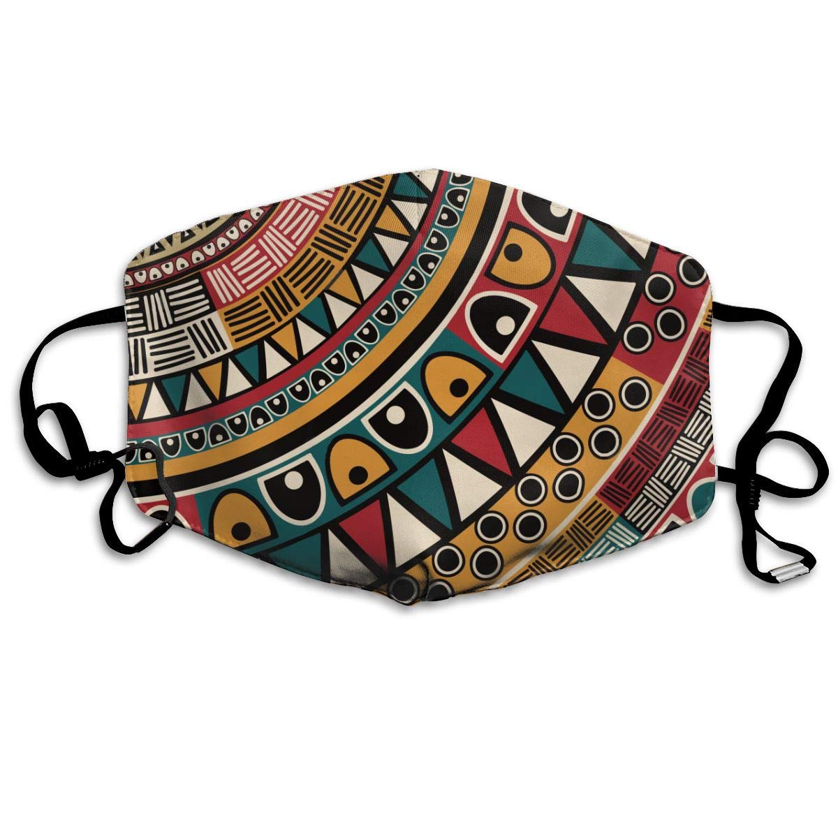 Tribal Ethnic Pattern Washable Reusable   Mask, Cotton Anti Dust Half Face Mouth Mask For Kids Teens Men Women With Adjustable