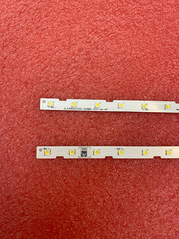 Image 3 - Nowy 2 sztuk podświetlenie LED Strip dla Samsung UE49NU7172 UE49NU7670 UE49NU7140 UE49NU7100 NU7100_STS49081_38LEDS_3030F AOT_49_NU7300Części zamienne i akcesoriaElektronika użytkowa -