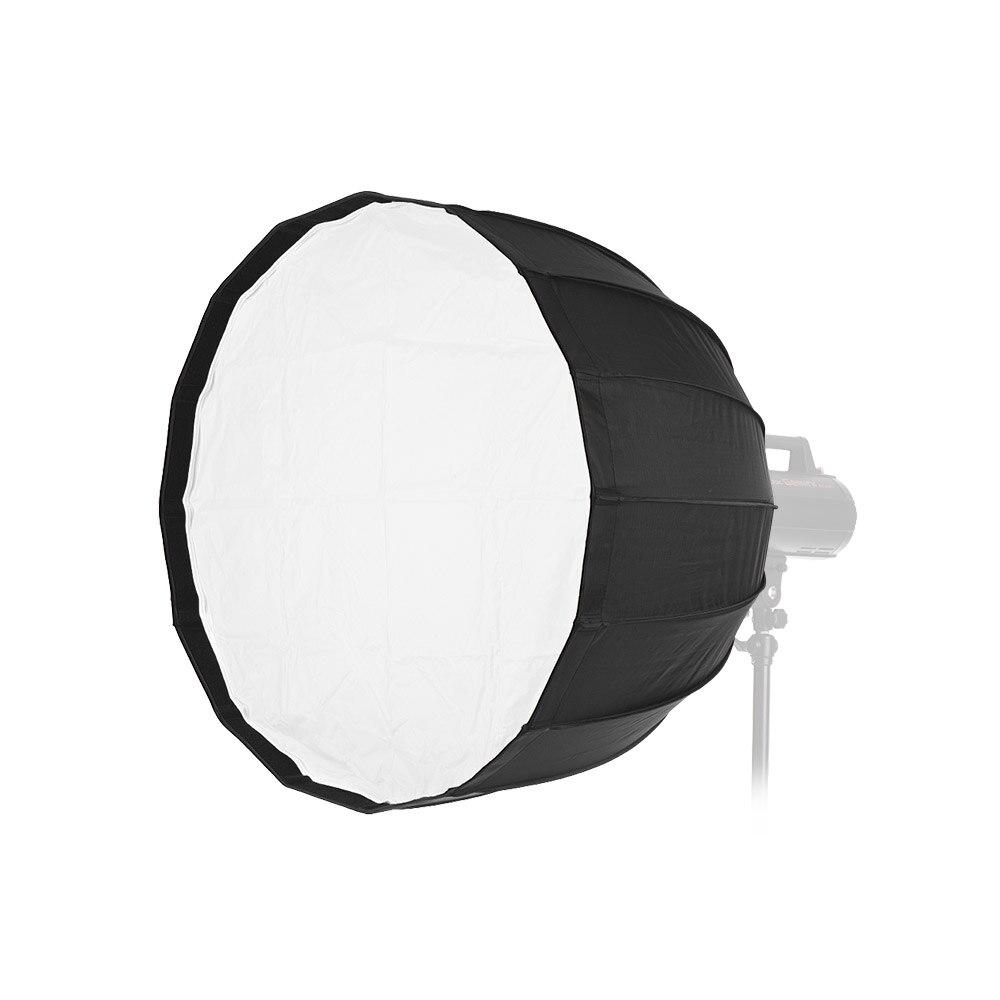 Boîte à parapluie parabolique profonde d'andoer 70 cm16 de tiges pour la lumière de Flash de Studio de bâti de Bowens pour l'épi/Godox AD600B d'aputure