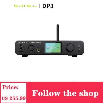 SMSL DP3 DAC USB Player Amplifier Balanced Digital Bluetooth4.0 LAN Network WIFI DSD Coaxial/Optical DAC Audio AMP Decoder headphone amplifier dac decoder usb input fber output coaxial input vt1630 tpa6120a2 cs4398 chip driving 16 600 ohms