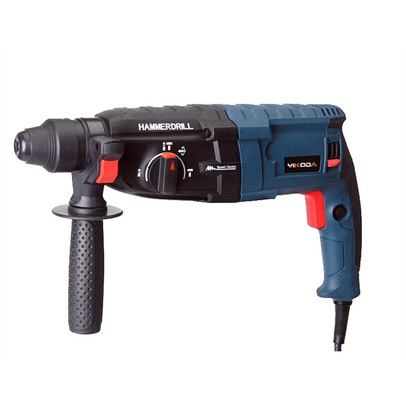 220V 28mm Electric Rotary Hammer Impact Drill Professional Concrete Wall Hole Opening Tools Chisel Shovel Three Function In All