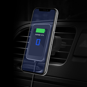 Image 2 - Wireless car charger induction usb mount for iphone 11 samsung s8 s9 car charging phone holder stand qi 10W Fast charging SIKAI