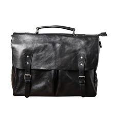 Классический мужской портфель из натуральной кожи переносная