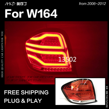 AKD Car Styling for Benz W164 Tail Lights 2006-2012 ML350 ML400 ML500 LED Tail Lamp DRL Signal Brake Reverse auto Accessories