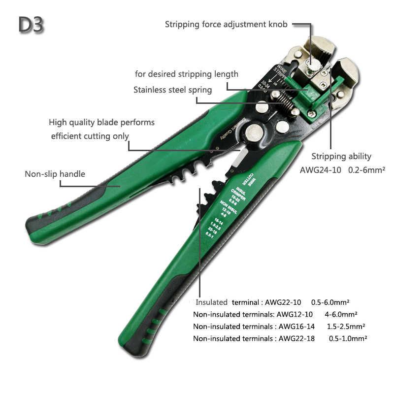 Crimper Kabel Cutter Automatische Draad Stripper Multifunctionele Strippen Gereedschap Krimptang Terminal 0.2-6.0mm2 Tool