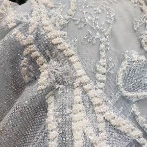 Image 5 - فستان حفلات بأكمام طويلة موديل 2020 من BGBW برقبة واسعة على شكل حرف V مع شعاع أزرق فاتح وفساتين حفلات بظهر مفرغ