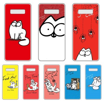 lovely Simons Cat cover Transparent Phone Case cover hull For SamSung Galaxy S 7 8 9 10 11 20 a 20e 50 51 70 71 Plus Edge Ultra image