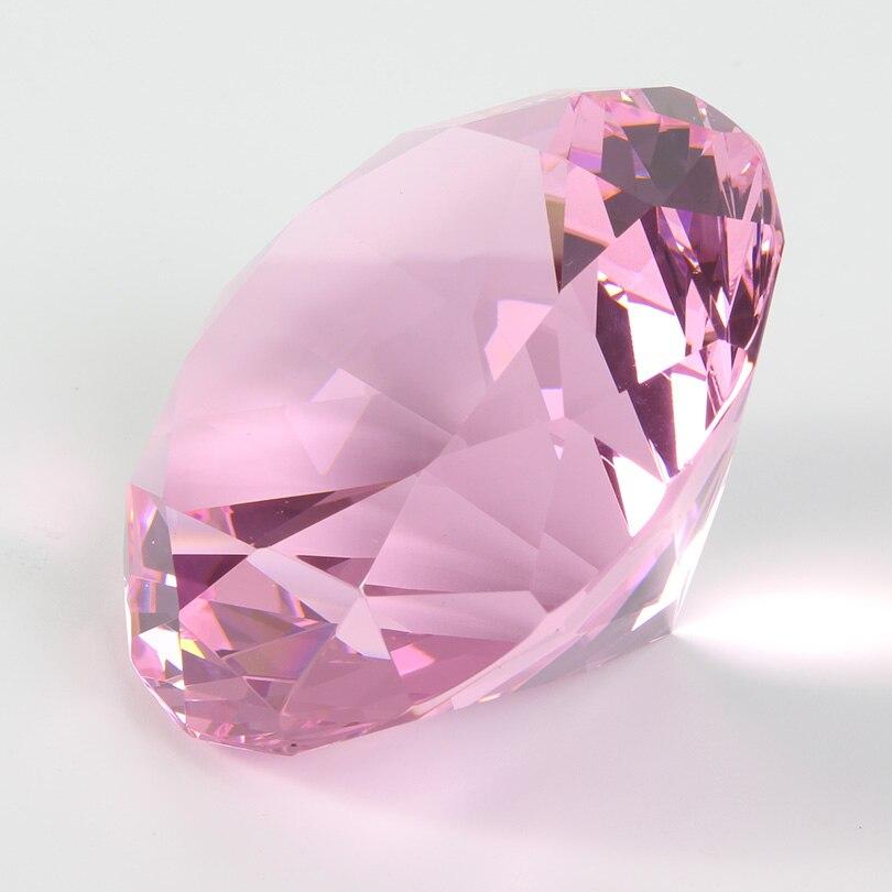 Цветные вечерние украшения из большого стекла с бриллиантами, большие бриллианты, романтическое предложение, украшения для дома, вечерние рождественские подарки - Цвет: Pink