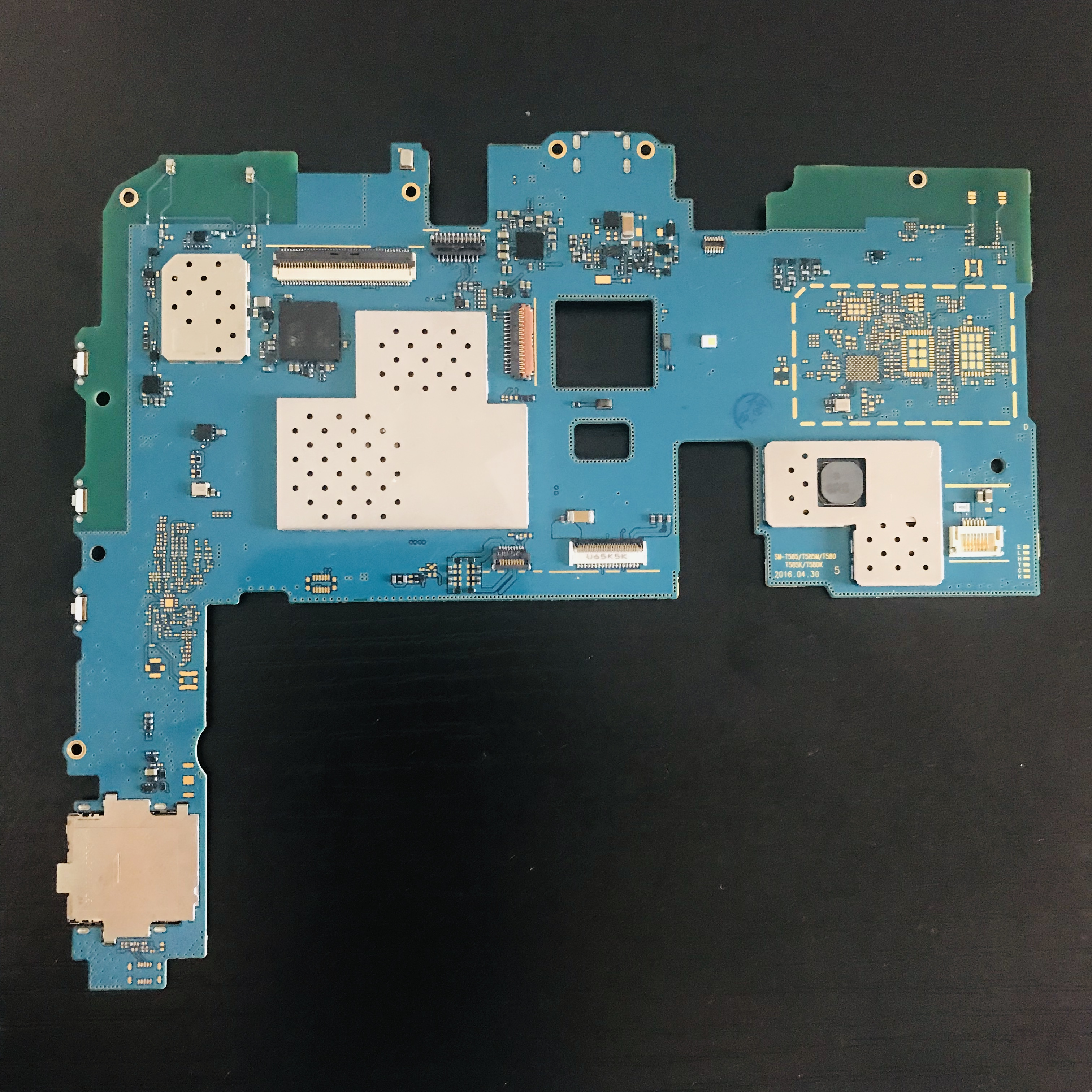 For Samsung Galaxy Tab A SM-T580 SM-T585 T580 T585 16GB Motherboard Mainboard Logic Board Circuits Card Fee Flex Cable