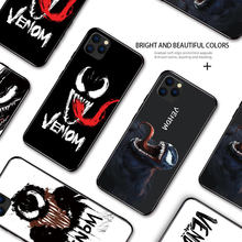 Marvel Venom Rubber Schilderen Behuizing Voor Iphone 6 6S 7 8 Plus Xs Max Xr Apple 11Pro 11 Pro max Zachte Siliconen Tpu Telefoon Case Cover(China)