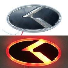 สีแดง/สีฟ้า/สีขาว LED Light K โลโก้ด้านหน้า Grille Trunk สัญลักษณ์ด้านหลังสำหรับ Kia OPTIMA