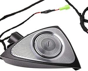 Image 5 - Car Interior 3 Colors Led Ambient Light 3D Rotary Tweeter Speaker for C Class W205 C180,C200 C250 C300,C350(W205)