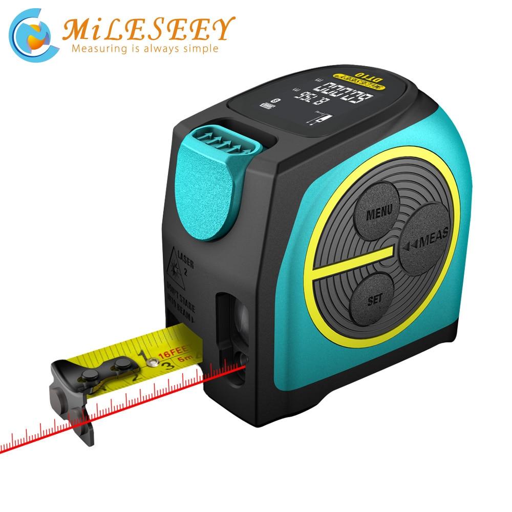 Mileseey Digital Laser Rangefinder and Laser Tape Measure 2 in 1 with LCD Display Digital Laser Tape M