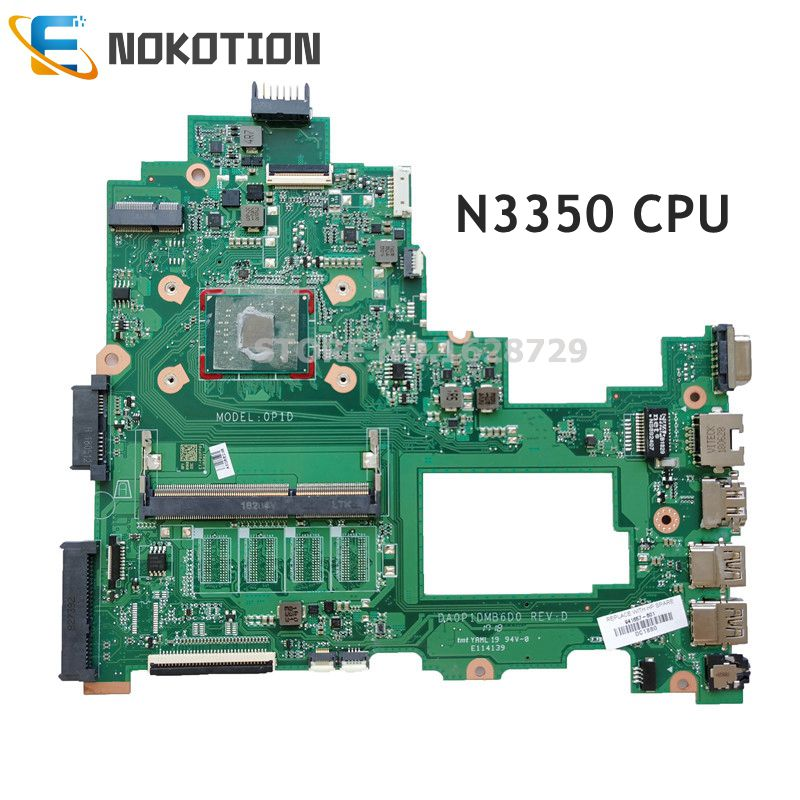 NOKOTION 941657-001 941657-601 For HP 14-BS 14-BS153OD TPN-Q186 246 G6 Laptop Motherboard DA0P1DMB6D0 N3350 CPU