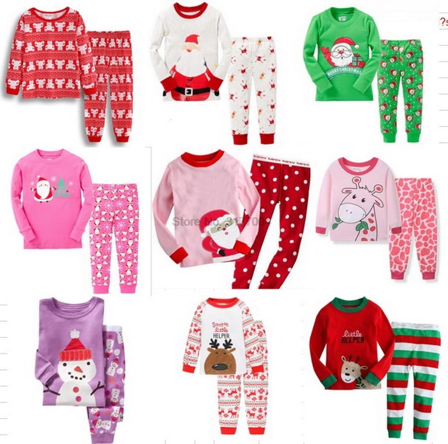 Suit Pajama-Sets Wear Christmas Kids Winter Cotton Children Cartoon Comfortable DHL 200set