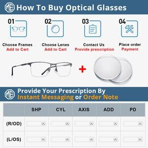 Image 5 - MERRYS تصميم الرجال سبائك التيتانيوم النظارات الإطار نصف البصرية قصر النظر وصفة طبية النظارات البصرية s2 176