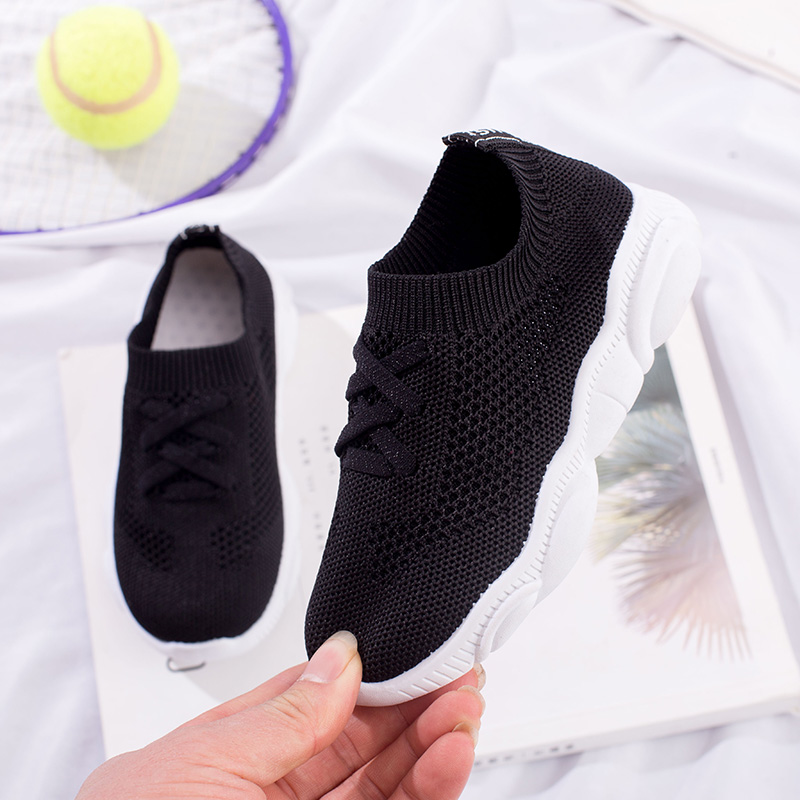 26-37 Kids Girls Fly Knit School Sports Athletic Running Shoes Trainer Jogger
