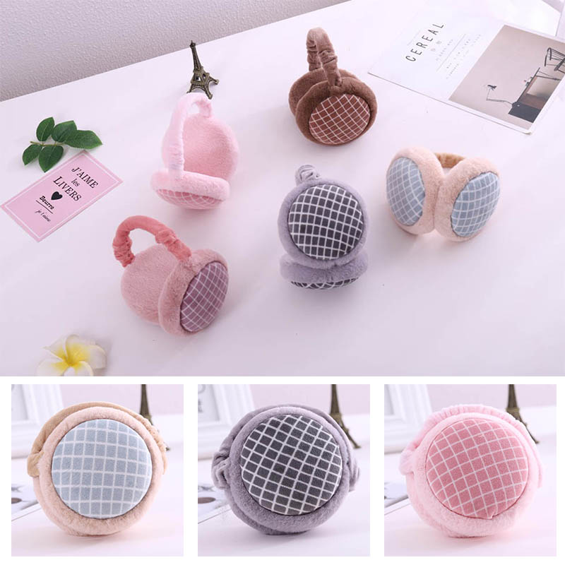 Calymel Folding Elegant Hamburger Earmuffs Lady's Ear Warmer Winter Anti Freezing Plush Ear Protectors Gift Earlap