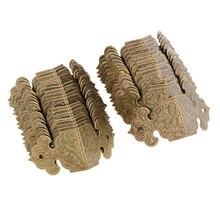 30 piezas Vintage decorativo esquinas de cajas de madera de mesa armario de baldas guardia borde accesorios de la cubierta de 25x25x17mm