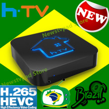 Ai tak pro 1 HTV BOX 3 HTV BOX 5 brasil HTV6 htv box 6 brasil Portugiesisch TV Internet Streaming box Live-IPTV HTV5 Media Player(China)
