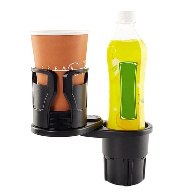 Фото lcyonger универсальный автомобильный двойной подстаканник бутылка
