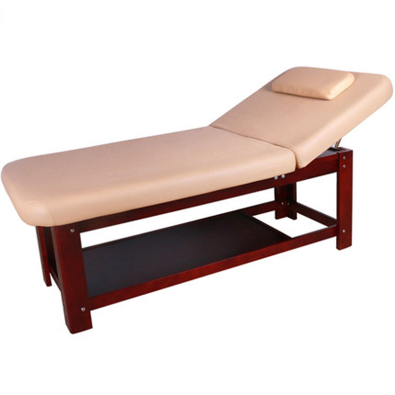 High-End Solid Wood Beauty Bed Home Tattoo Therapy Massage Bed Dedicated Folding Massage Table Beauty Salon Special Body Bed