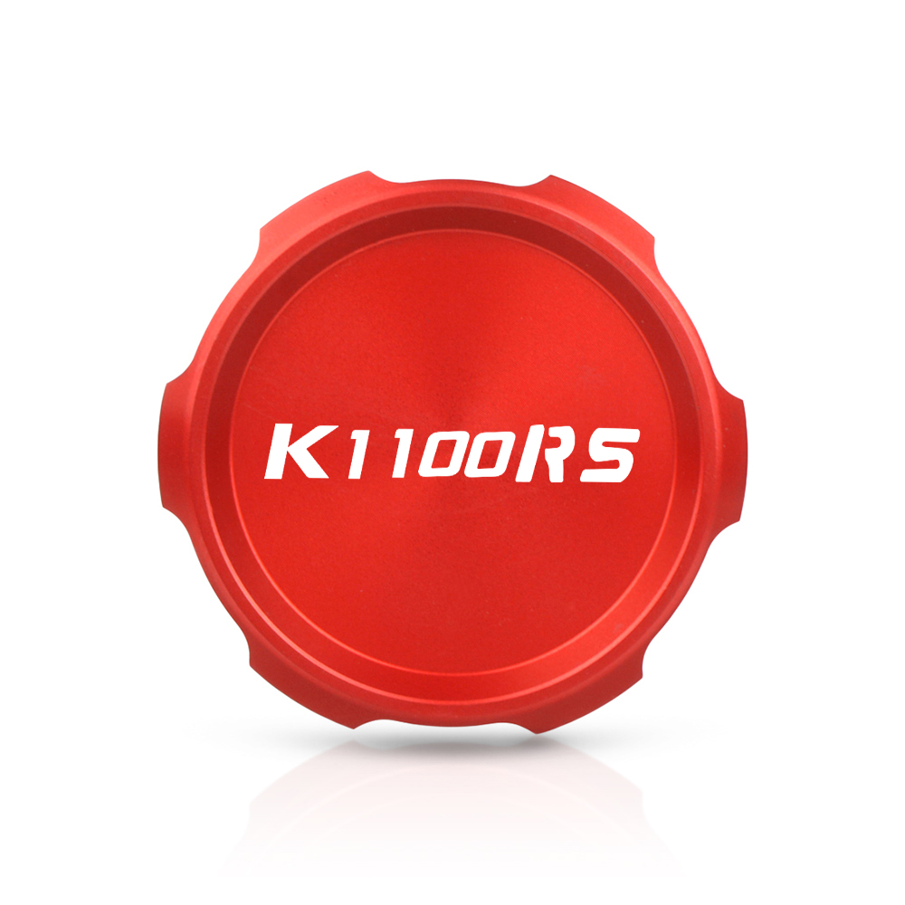 Motorcycle CNC Aluminum Accessories Cylinder Reservoir Cover cap For BMW K1100RS 1993-1996 Black Red Blue K 1100 RS with logo image