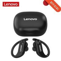 Lenovo TWS Bluetooth 5,0 auricular inalámbrico de deporte auricular IPX5 impermeable bajo de retraso auriculares con pantalla de la batería