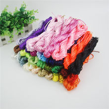 Good Quality 2mm Kumihimo cord 100M 20M*5pcs Nylon Cord Rattail Satin Braided String Mixed Colors Jewelry Beading Cord ds5(China)
