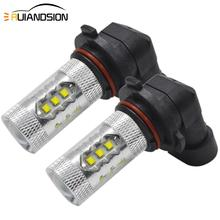 9006 H7 H11 H15 H4 high/low LED Auto Fog Lamp 80W XB-D high power White 10-30V Bulbs For Car External Light