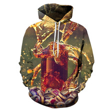 3D Autumn And Winter Men Women Hoodie Printing Beer Hooded Sports Fashion Personality Street Sweatshirt