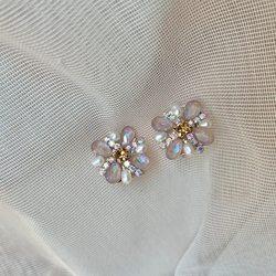 MENGJIQIAO New Cute Elegant Pearl Delicate Rhinestone Square Stud Earrings For Women Waterdrop Crystal Boucle D'oreille Jewelry