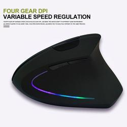 2019 USB mysz bezprzewodowa na akumulator 2.4GHz pionowa mysz do gier 800 1600 2400 DPI ergonomiczne myszy komputerowe na PC Laptop Office