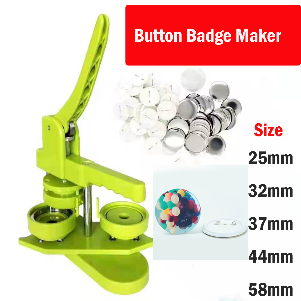 Button Badge Making Machine Maker with button badge mould 25mm/32mm/37mm/44mm/50mm/56mm/58mm/75mm