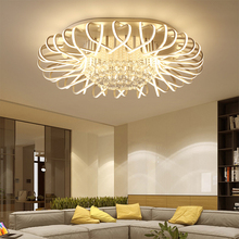 modern The latest new ceiling lamp Nordic Round Crystal LED Lighting Lamps Living Room bedroom Restaurant fixture chandelier