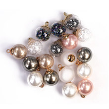 16mm Fashion Women Wear Pearl Buttons for Clothing Button Round Bead Pink Color Sew on Clothes Sewing Accessories Garment 3pcs