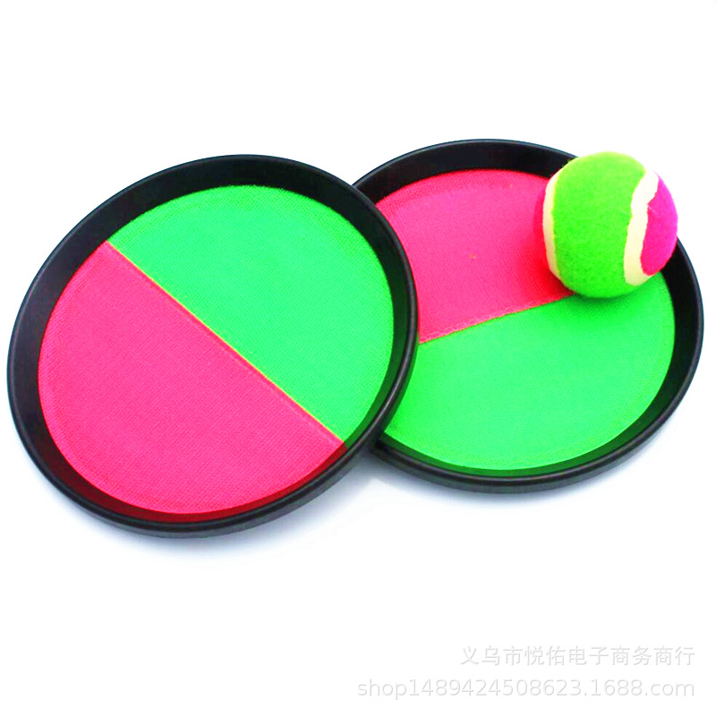 1Set Kids Sucker Sticky Ball Toy Outdoor Sports Catch Ball Game Set Throw And Catch Parent-Child Interactive Outdoor Toys