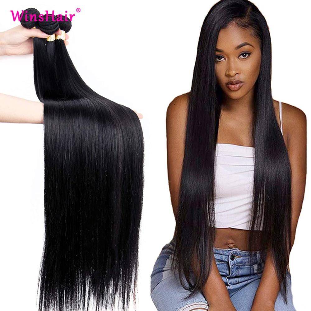 Liweike прямые человеческие волосы для наращивания на 1B натуральный Цвет 3 пряди сделка 100% Волосы Remy 3 шт. перуанские пряди волос Связки