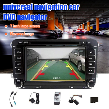 Letouch Car Radio Bluetooth Stereo 7 Inch 2 Din HD GPS Navigation Stereo for VW Support DVD-CD-Radio-SD Card-USB + Backup Camera image
