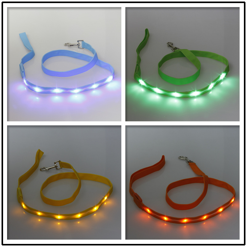 Pet Shining Sling Light Belt Hand Holding Rope Dog Traction Rope Pet Supplies 3 PCs Specification Width