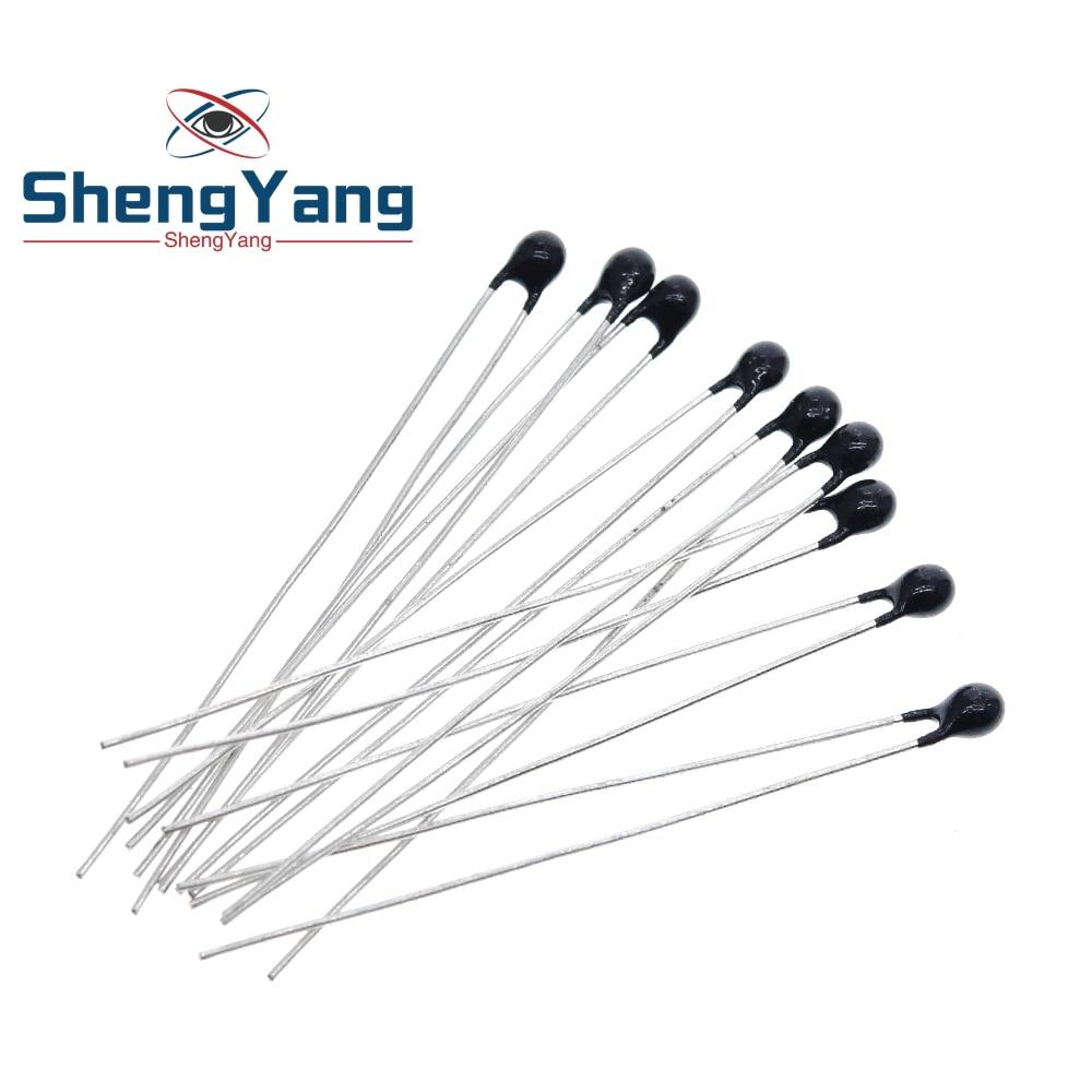 Shengyang 10pcs ntc thermistor resistor térmico mf52 NTC-MF52AT 1k 2k 3k 4.7k 5k 10k 20k 47k 50k 100k 5% 3950b 1/2/3/4.7/k ohm r
