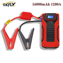GKFLY High Power 16000mAh 1200A Car Jump Starter 12V Starting Device Power Bank Car Charger For Car Battery Booster Buster LED